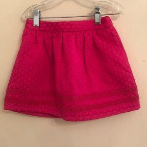 Hot pink mini skirt for girls